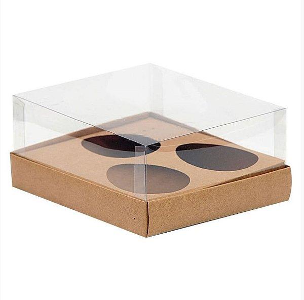 Caixa 3 Ovos de Colher 150G - 20,5cm x 17cm x 6,5cm - Kraft - 5 Unidades - Assk - Páscoa Rizzo Embalagens