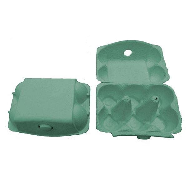 Mini Caixa Azul para 06 Ovos 50g - 01 unidade - Rizzo Embalagens