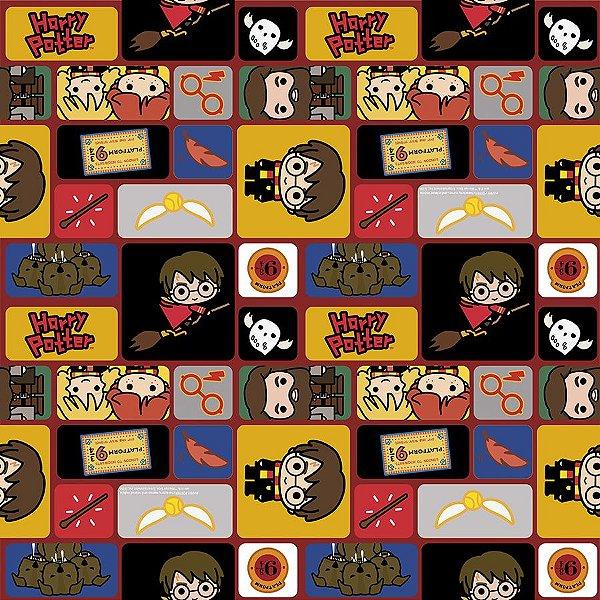 Folha para Ovos de Páscoa Harry Potter 69x89cm - 05 unidades - Páscoa Cromus - Rizzo Embalagens