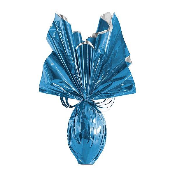 Folha para Ovos de Páscoa Metalizado Azul 69x89cm - 05 unidades - Cromus Páscoa - Rizzo Embalagens