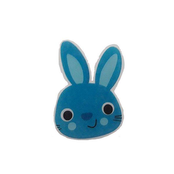 Papel Arroz Comestível Coelho Azul G Mod.9 Amo Confeitaria Rizzo Embalagens
