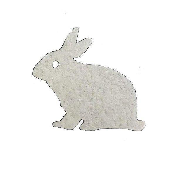 Papel Arroz Comestível Coelho Branco Sentado Mod.14 Amo Confeitaria Rizzo Embalagens