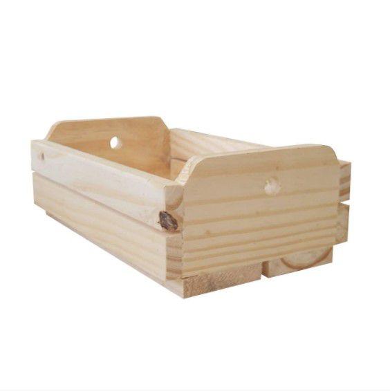 Caixote de Madeira Crú 15,5x10,5x7cm - 01 Unidade - Rizzo
