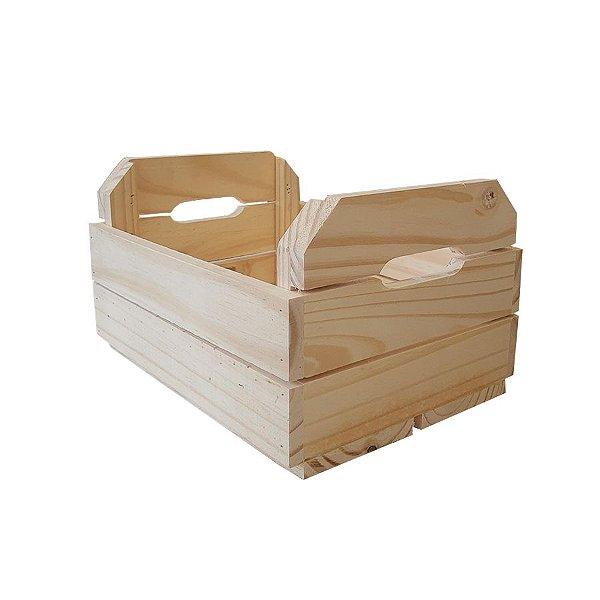 Caixote de Madeira Crú 28,5x22,5x17,5cm - 01 Unidade - Rizzo