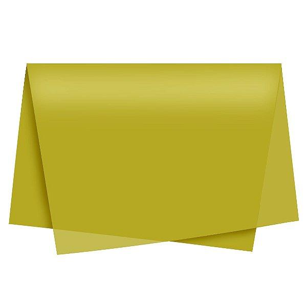 Papel de Seda - 48x60cm - Ouro - 10 folhas - Rizzo Embalagens