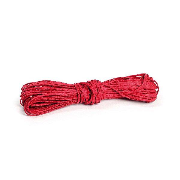 Fio Decorativo de Papel Torcido Vermelho - 5 metros - Cromus - Rizzo Embalagens