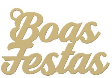 Tag de Decoração Boas Festas - Dourado - Sonho Fino - Rizzo Embalagens