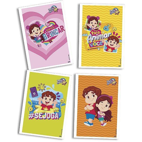 Quadros Decorativos Festa Maria Clara e JP - 04 unidades - Festcolor - Rizzo Festas