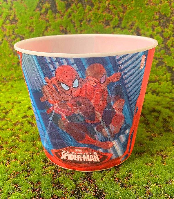 Balde Pipoca de Plástico 3D Festa Homem Aranha 1L - 1 Unidade - Regina - Rizzo Festas