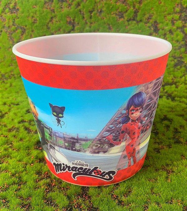 Balde Pipoca de Plástico 3D Festa Ladybug 1L - 1 Unidade - Regina - Rizzo Festas