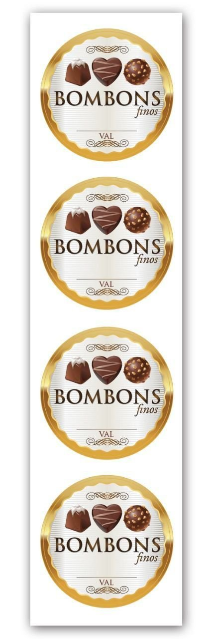Etiqueta Adesiva Bombons Finos - 20 unidades - Miss Embalagens - Rizzo Embalagens