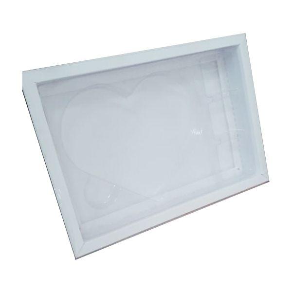 Caixa Coração Plano G Branca - 05 unidades - Crystal - Rizzo Embalagens