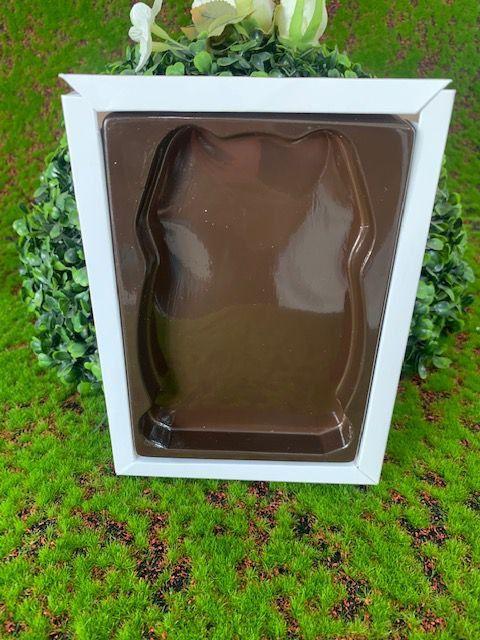 Caixa Ovo Coelho Plano Branca M - 05 unidades - Crystal - Rizzo Embalagens