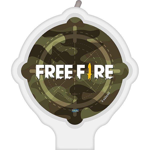 Vela Festa Free Fire - 01 unidade - Festcolor - Rizzo Festas