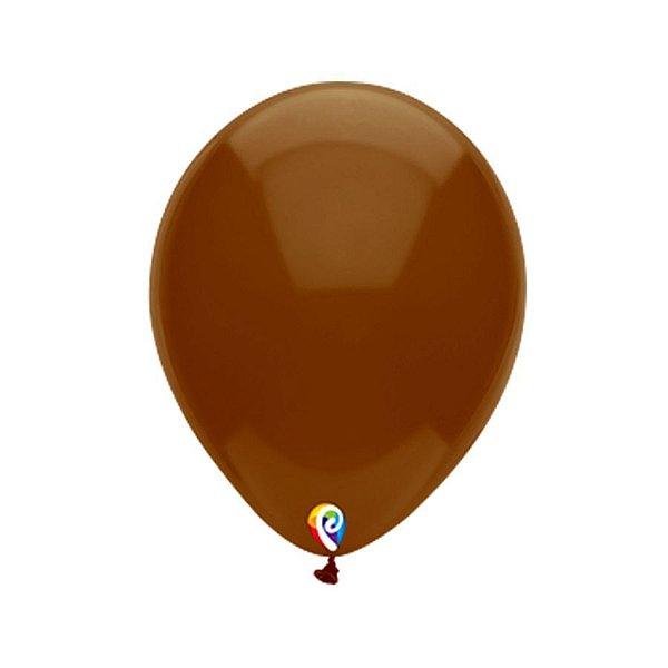 Balão de Festa Látex - Marrom Cristal - Sensacional - Rizzo Embalagens