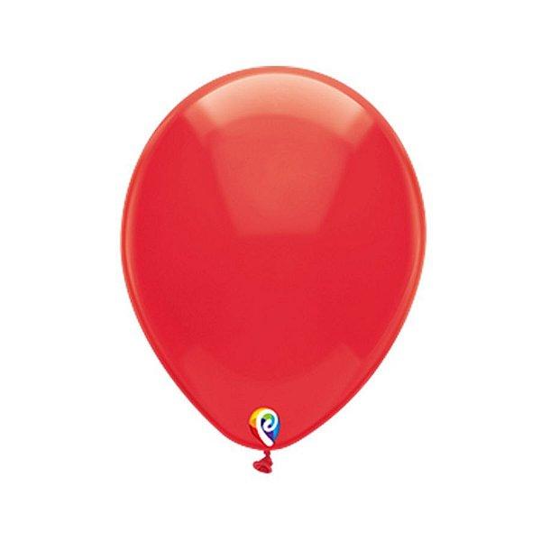 Balão de Festa Látex - Vermelho Cristal - Sensacional - Rizzo Embalagens
