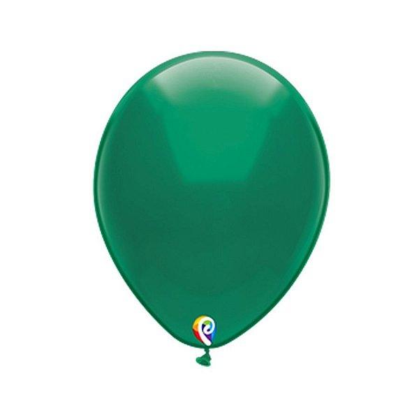 Balão de Festa Látex Liso Sólido - Verde - Qualatex - Rizzo Embalagens