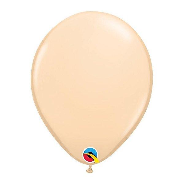 Balão de Festa Látex Liso Sólido - Cor de Pele - Qualatex - Rizzo Embalagens