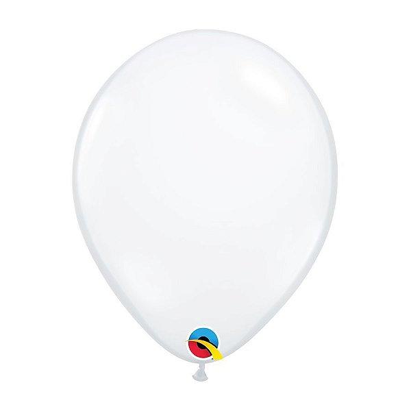 Balão de Festa Látex Liso Cristal - Diamante Transparente - Qualatex - Rizzo Embalagens