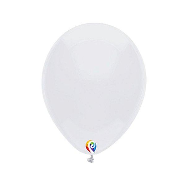 Balão de Festa Látex - Branco - Sensacional - Rizzo Embalagens