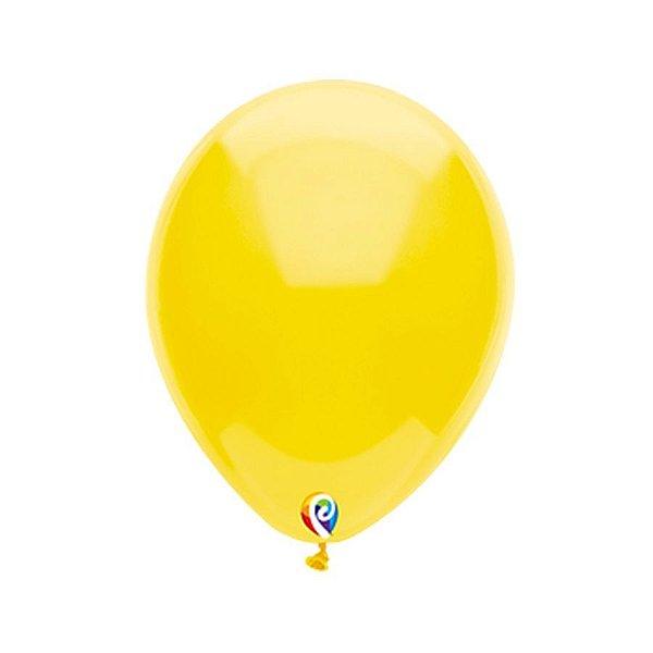 Balão de Festa Látex - Amarelo - Sensacional - Rizzo Embalagens