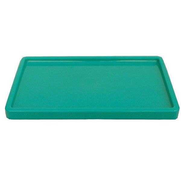 Bandeja Retangular 30x18cm Verde Esmeralda - 01 unidade - Só Boleiras - Rizzo Embalagens