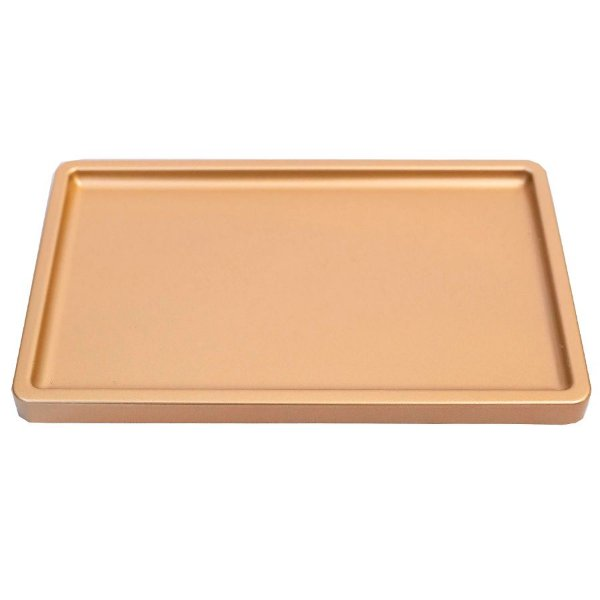 Bandeja Retangular 30x18cm Premium Rose Gold - 01 unidade - Só Boleiras - Rizzo Embalagens