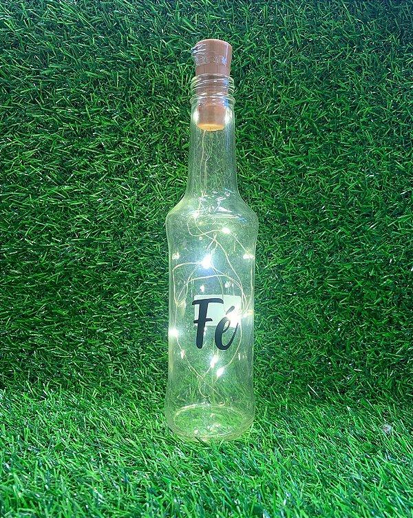 Garrafa de Vidro com Rolha Led - Fé - 01 unidade - Rizzo Embalagens
