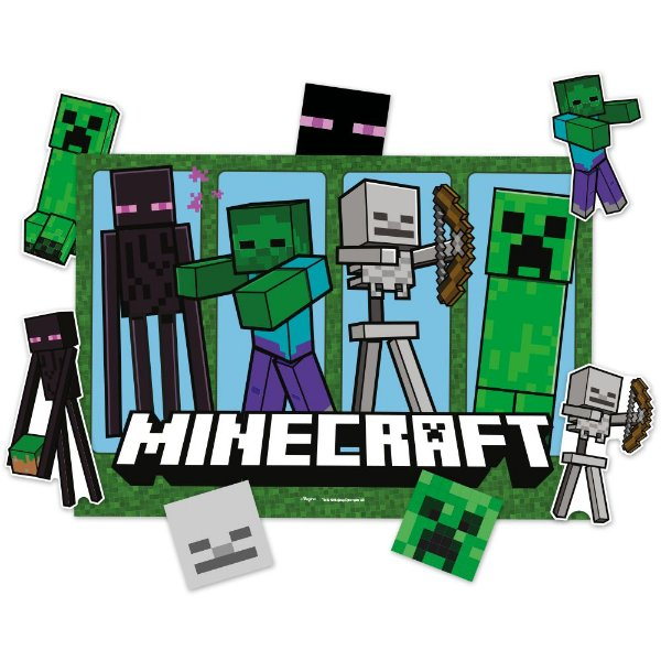 Kit Decorativo Minecraft 01 Unidade - Regina - Rizzo Festas
