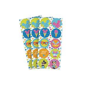 Adesivo Redondo Mickey Cores 30 Unidades - Regina - Rizzo Festas