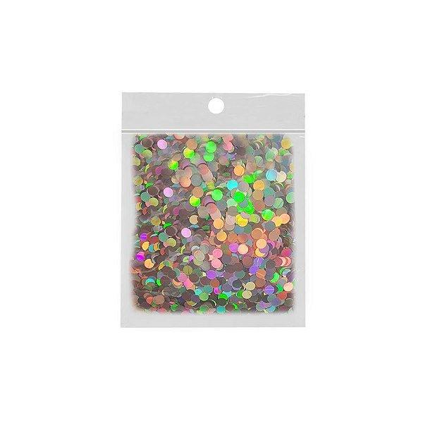 Confete Redondo 10g - Holográfico - Rizzo Embalagens