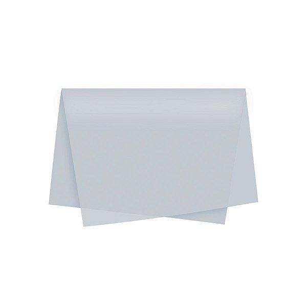 Papel de Seda - 48x60cm - Prata - 10 folhas - Villa Pack - Rizzo