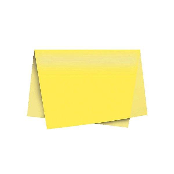 Papel de Seda - 50x70cm - Amarelo - 10 folhas - Riacho - Rizzo