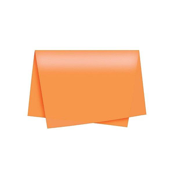 Papel de Seda - 50x70cm - Laranja - 10 folhas - Riacho - Rizzo