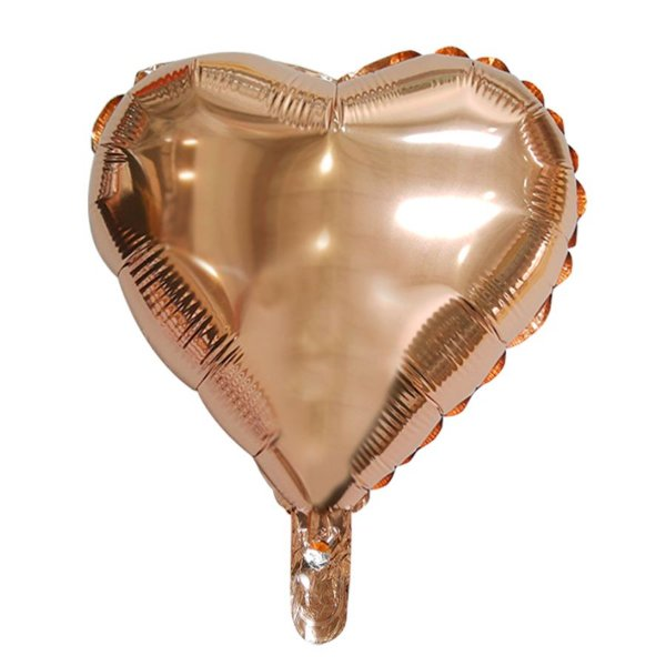 """Balão de Festa Microfoil Coração Rose Gold - 18"""" 45cm - 01 Unidade - Rizzo Embalagens"""