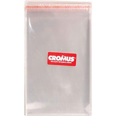 Saco adesivado 12x12cm - 100 unidades - Cromus Embalagens - Rizzo Embalagens