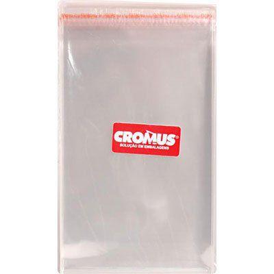 Saco adesivado 6,5x13cm - 100 unidades - Cromus Embalagens - Rizzo Embalagens