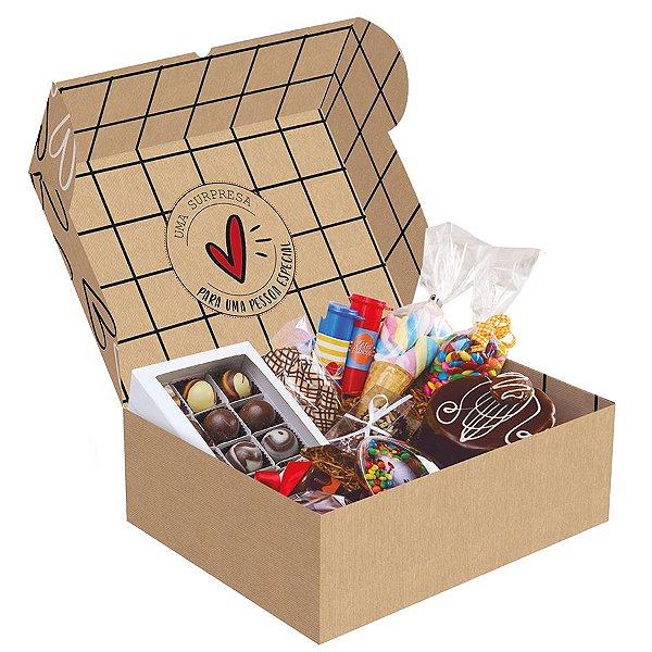 Cesta na Caixa Feita com Amor - 01 unidade - Cromus - Rizzo Embalagens