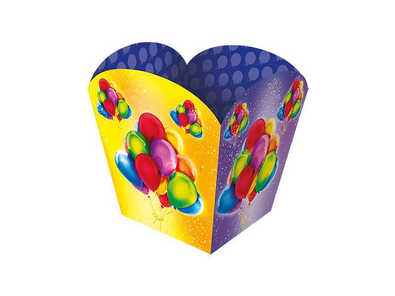 Cachepot Papel Festa Baloes Coloridos 08 Unidades - Regina - Rizzo Festas