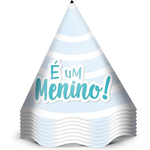 Chapeu Aniversario Festa Festa Cha de Bebe Menino 12 Unidades - Regina - Rizzo Festas
