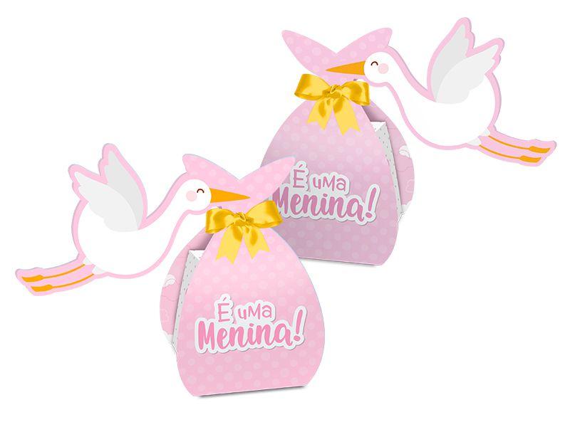 Caixa Surpresa Festa Cha de Bebe Menina 08 Unidades - Regina - Rizzo Festas