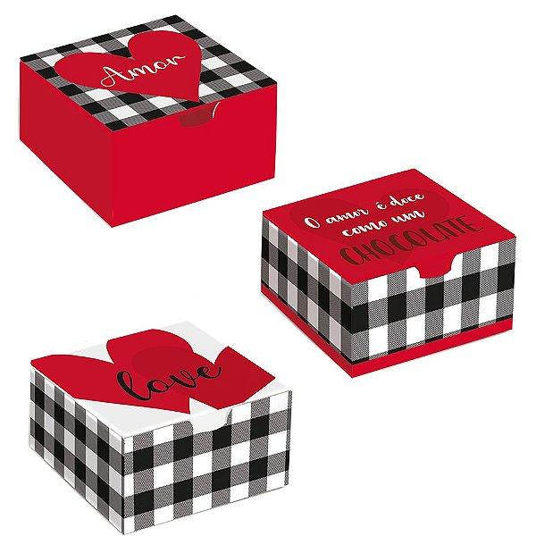 Caixa Divertida Meu Amor Sortido - 10 unidades - Cromus - Rizzo Embalagens