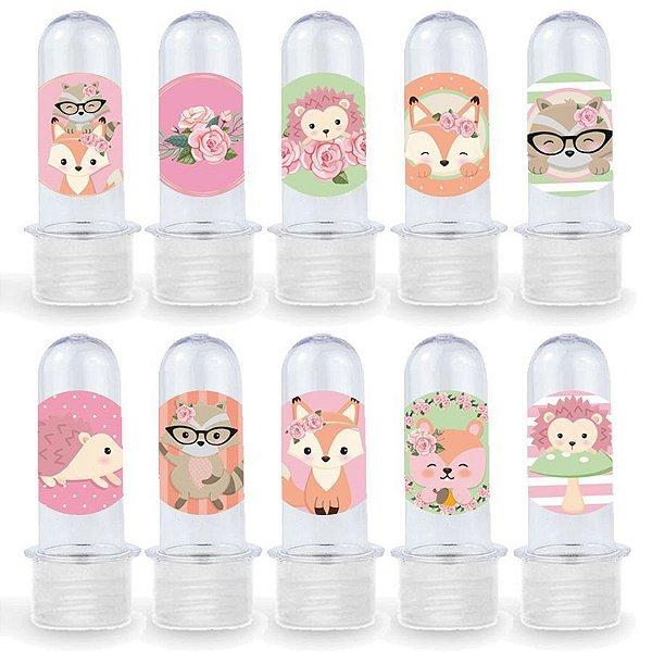 Mini Tubete Lembrancinha Festa Bosque dos Sonhos - 8cm - 20 unidades - Transparente -  Rizzo Embalagens e Festas