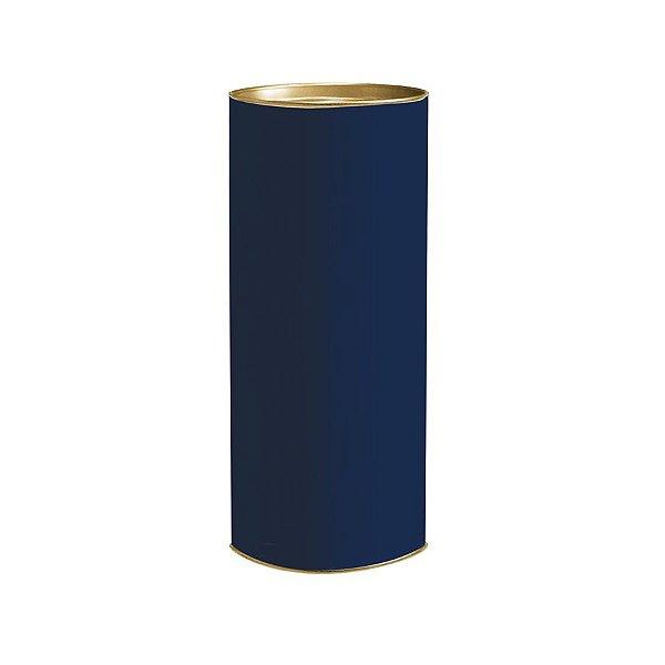 Lata para Presente 20x9,1cm Azul Marinho - 01 unidade - Rizzo Embalagens