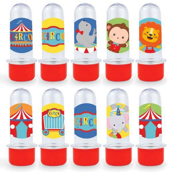 Mini Tubete Lembrancinha Festa Circo 2 - 8cm - 20 unidades - Vermelho -  Rizzo Embalagens e Festas