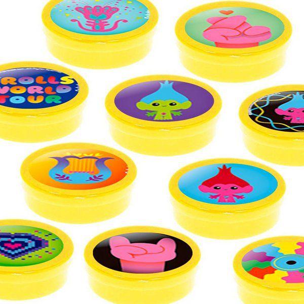 Latinha Lembrancinha Festa Trolls 2 - 8cm - 20 unidades - Amarelo -  Rizzo Embalagens e Festas