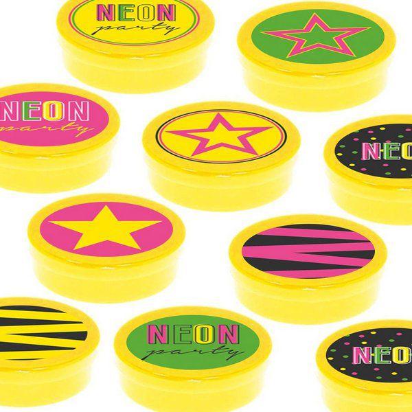 Latinha Lembrancinha Festa Neon - 8cm - 20 unidades - Amarelo -  Rizzo Embalagens e Festas
