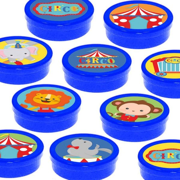 Latinha Lembrancinha Festa Circo 2 - 8cm - 20 unidades - Azul Escuro -  Rizzo Embalagens e Festas