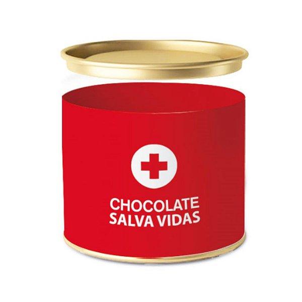Lata para Bombons Emergência Chocolate Salva Vidas - 01 unidade - Cromus - Rizzo Embalagens