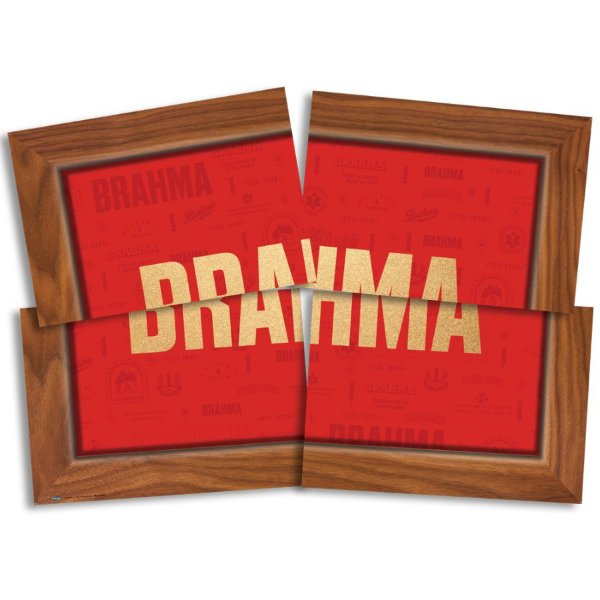 Painel Decorativo 4 Lâminas Festa Brahma - Festcolor - Rizzo